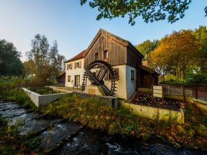 Wassermühle in der Natur